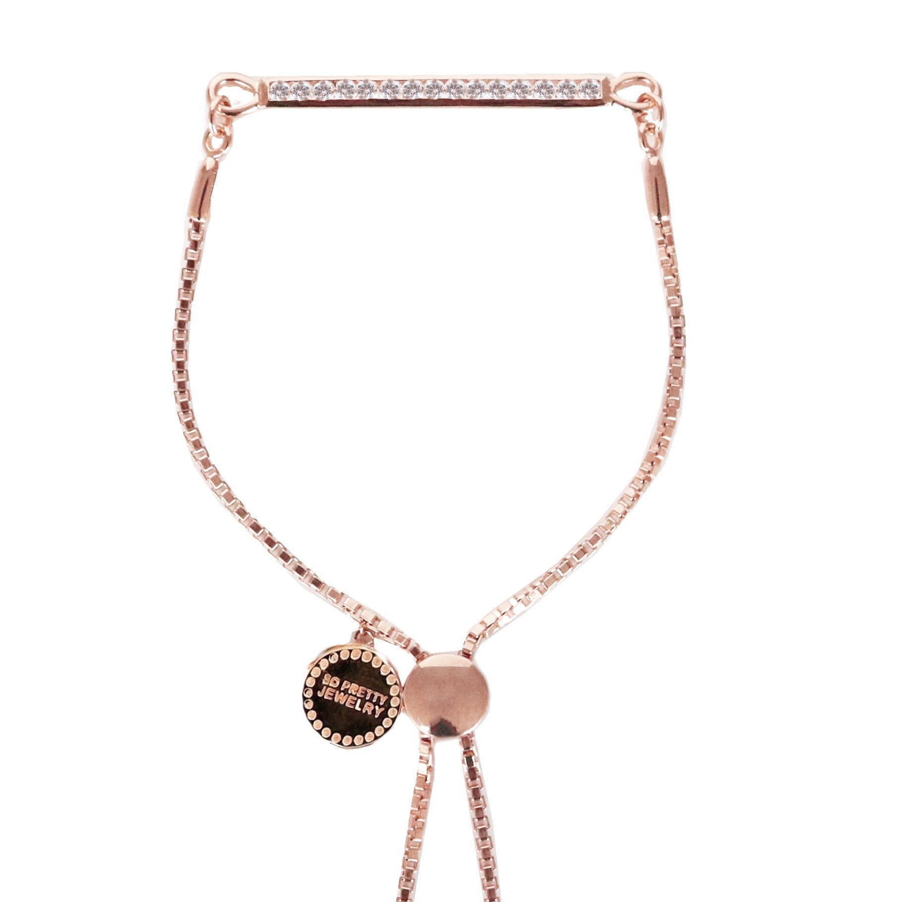 DREAM STARDUST ADJUSTABLE BRACELET - CUBIC ZIRCONIA & ROSE GOLD - SO PRETTY CARA COTTER