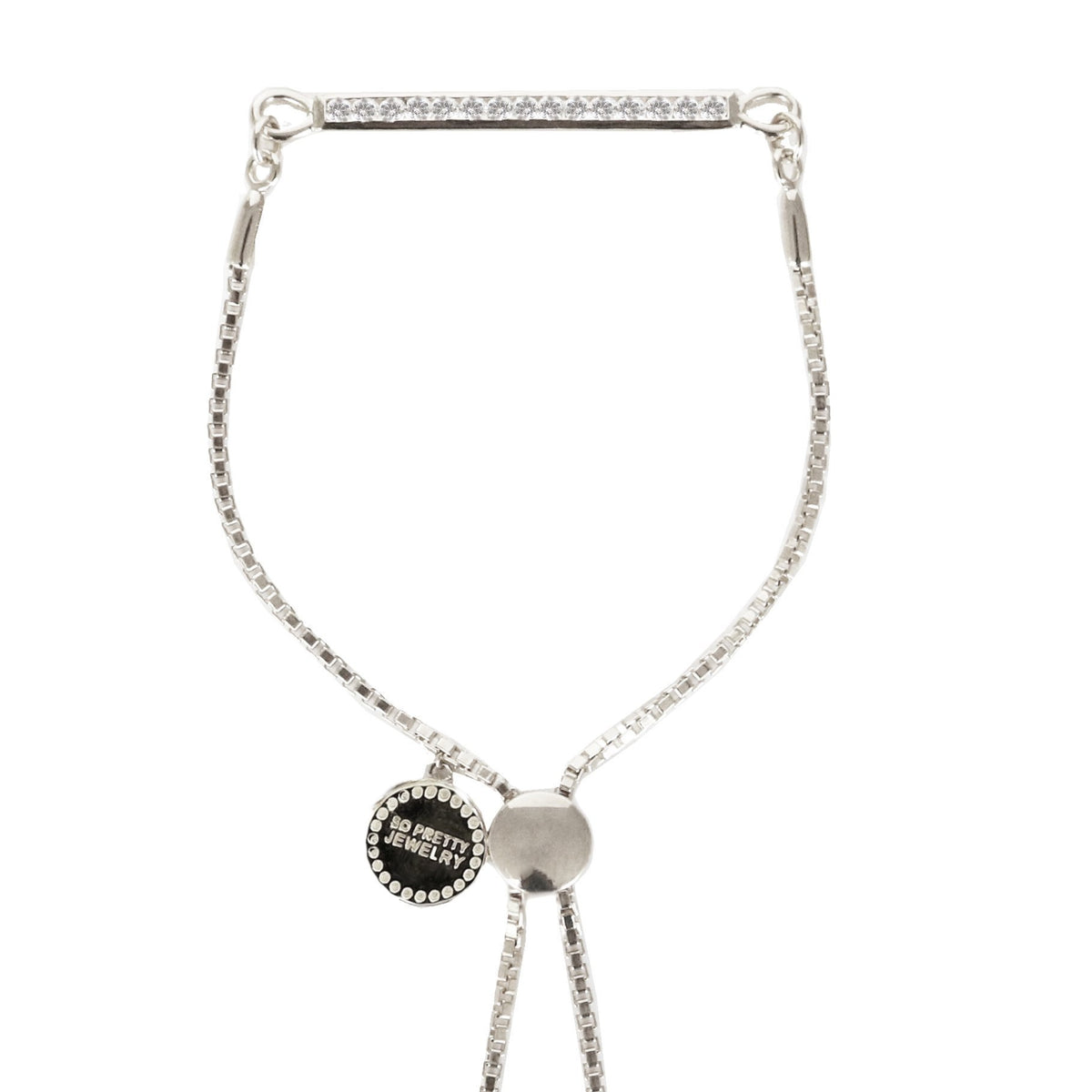 DREAM STARDUST ADJUSTABLE BRACELET - CUBIC ZIRCONIA & SILVER - SO PRETTY CARA COTTER