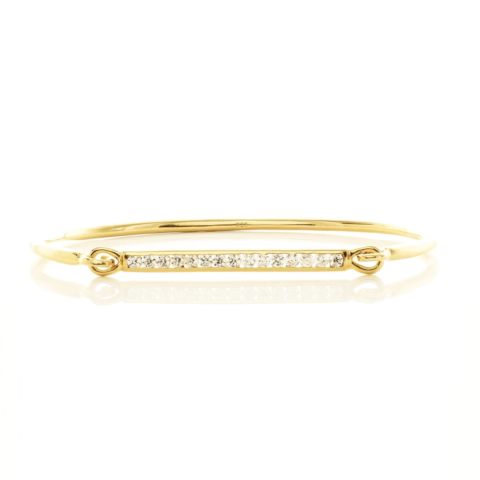 DREAM STARDUST CUFF - CUBIC ZIRCONIA & GOLD - SO PRETTY CARA COTTER