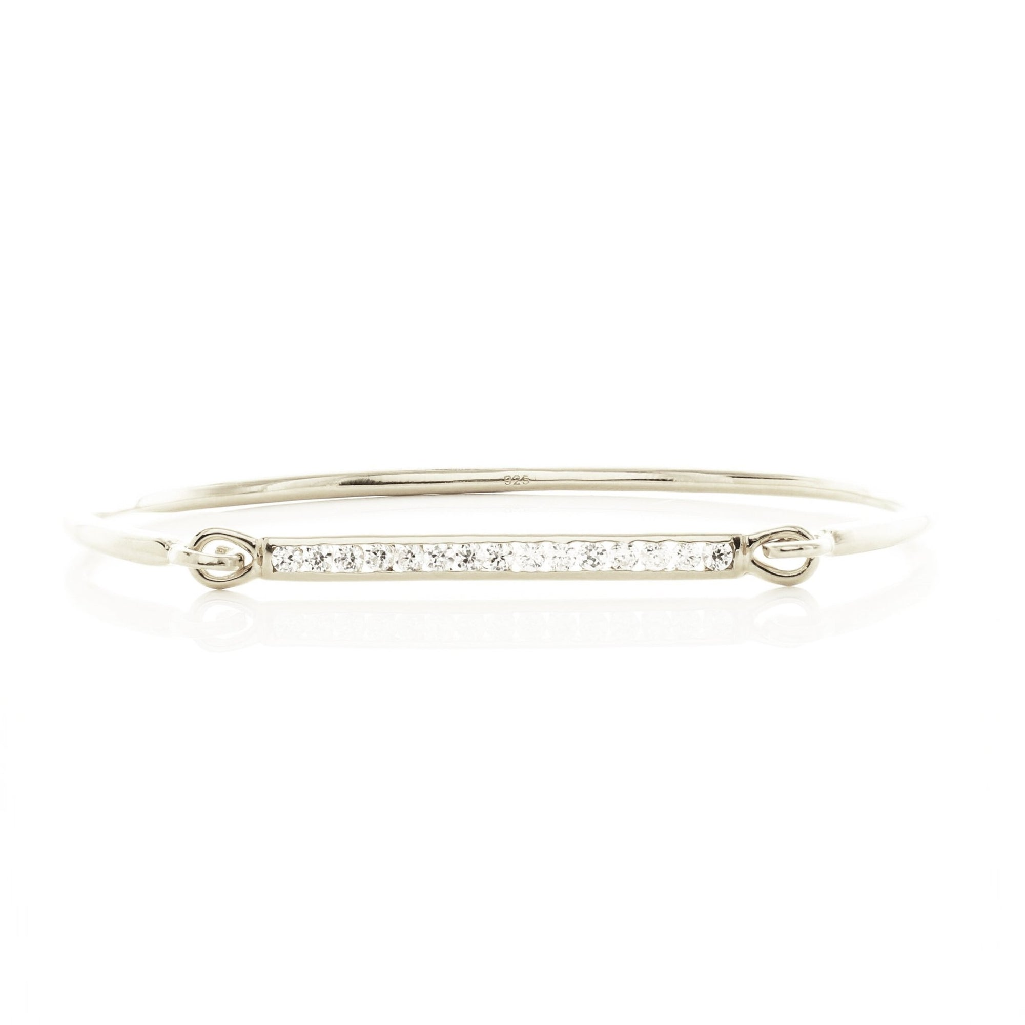 DREAM STARDUST CUFF - CUBIC ZIRCONIA & SILVER - SO PRETTY CARA COTTER