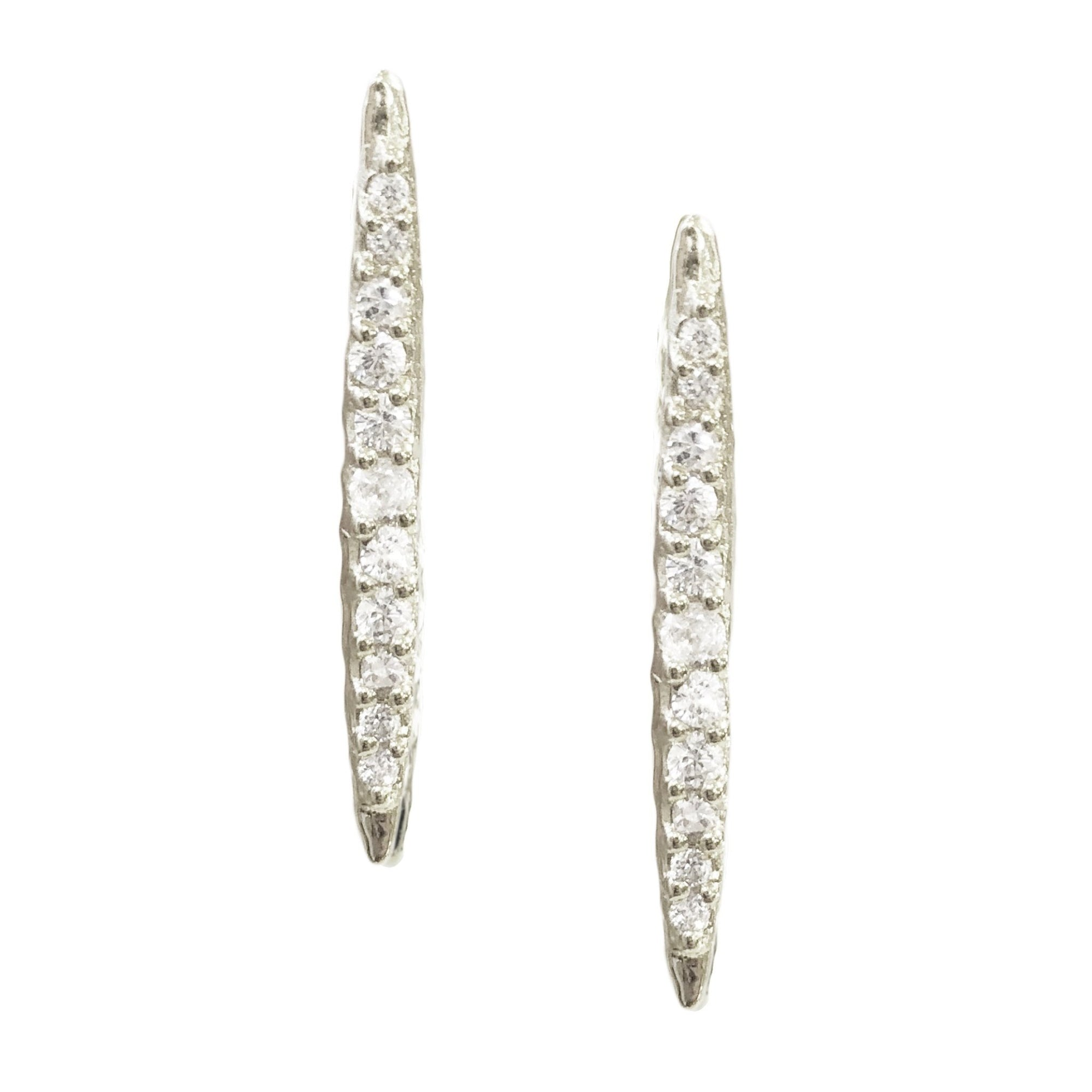 DREAM STARDUST STUDS - CUBIC ZIRCONIA & SILVER - SO PRETTY CARA COTTER