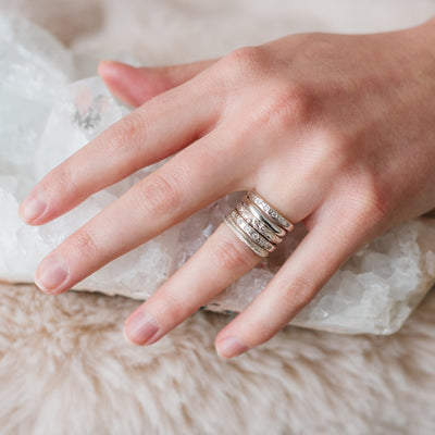 ENDEAR STACKING RING & PENDANT SILVER - SO PRETTY CARA COTTER