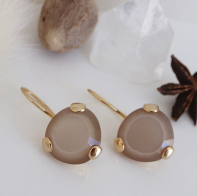 FEARLESS DROP EARRINGS - CHAI MOONSTONE & GOLD - LIMITED EDITION - SO PRETTY CARA COTTER