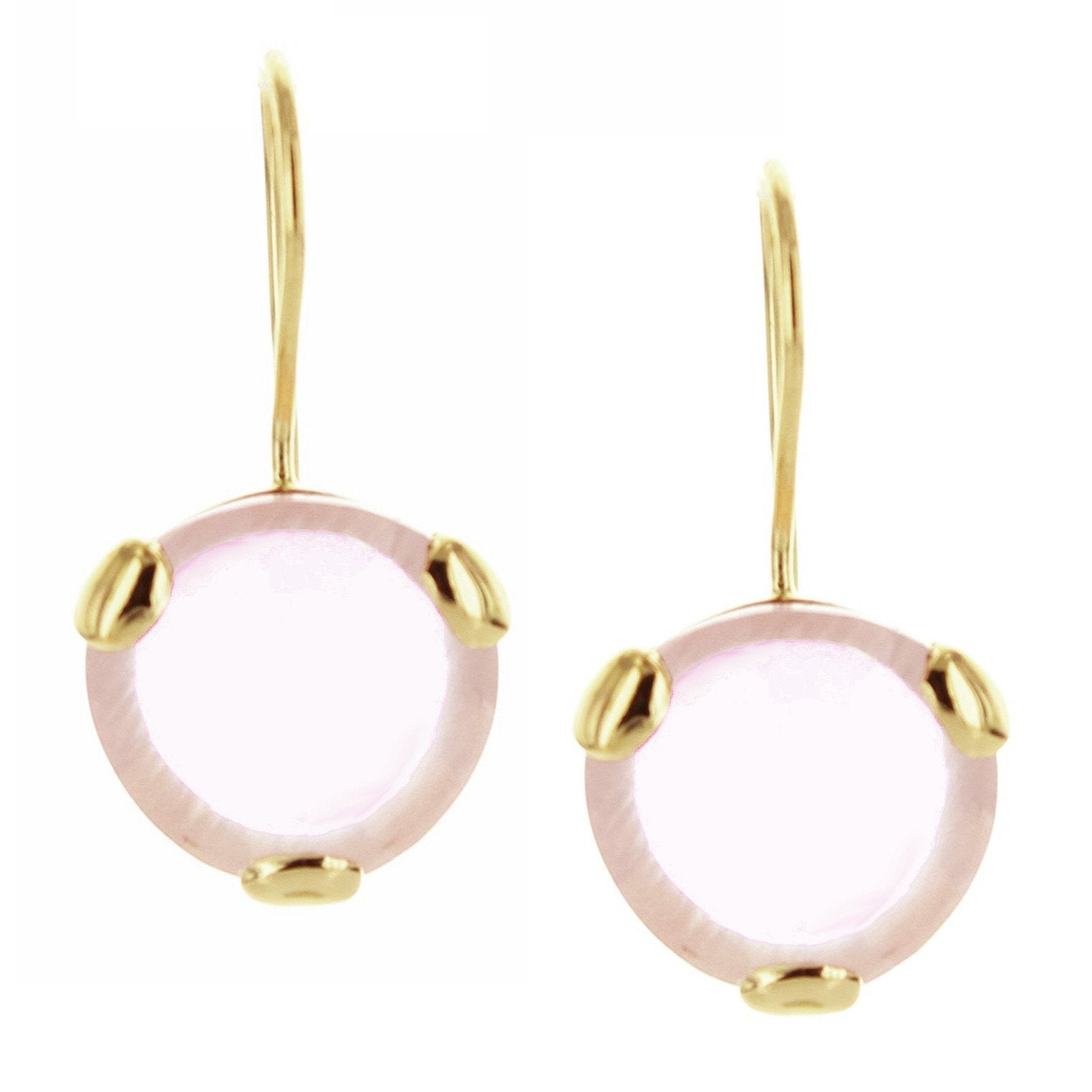 FEARLESS DROP EARRINGS - PINK QUARTZ & GOLD - SO PRETTY CARA COTTER