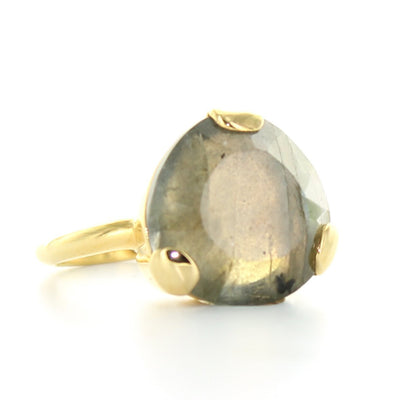 FEARLESS RING - LABRADORITE & GOLD - SO PRETTY CARA COTTER