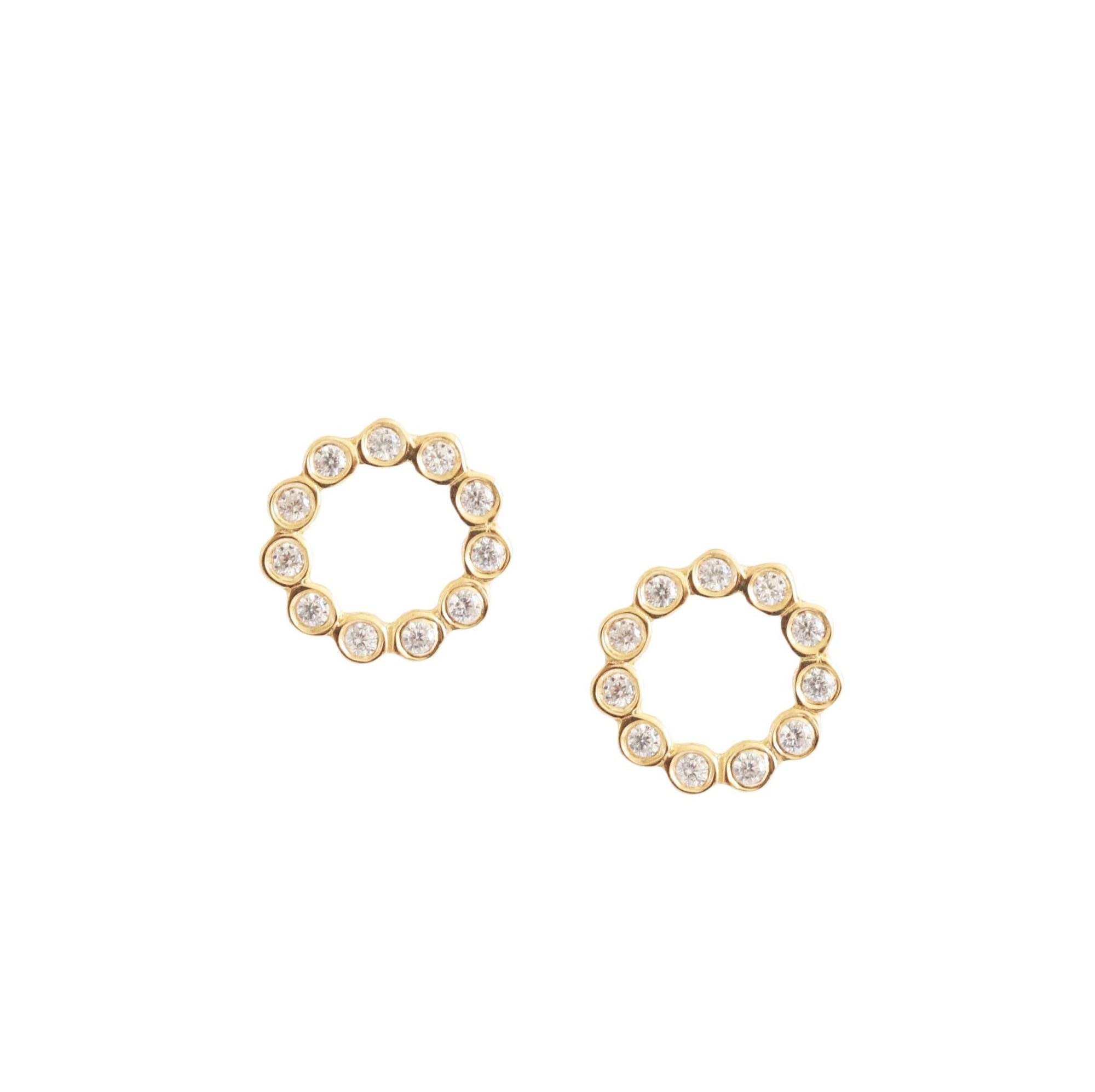 FRAICHE INSPIRE HOOP EARRINGS - CUBIC ZIRCONIA & GOLD - SO PRETTY CARA COTTER