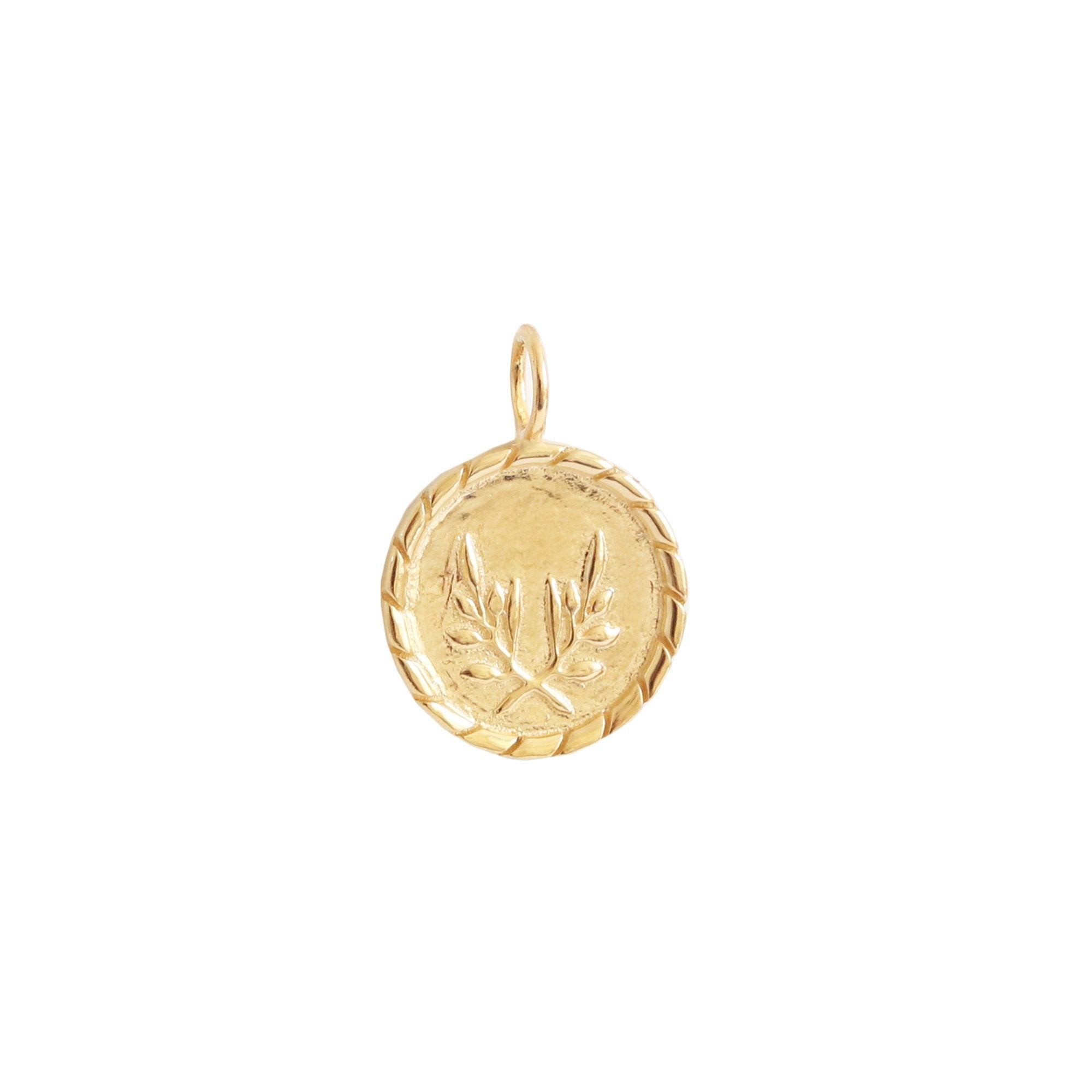 FRAICHE INSPIRE TOKEN PENDANT - GOLD - SO PRETTY CARA COTTER