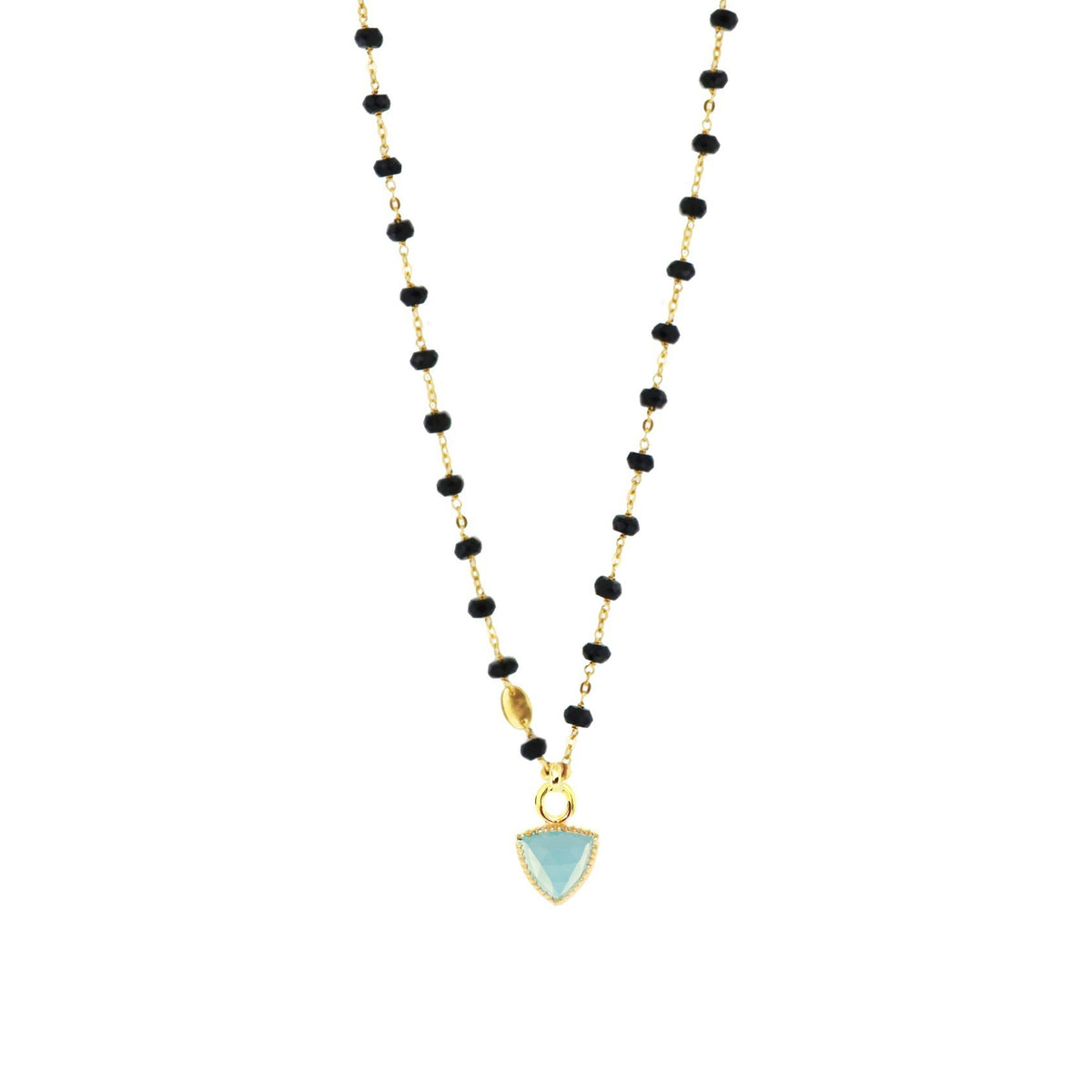 FREEDOM ICON - AQUA CHALCEDONY & GOLD - SO PRETTY CARA COTTER