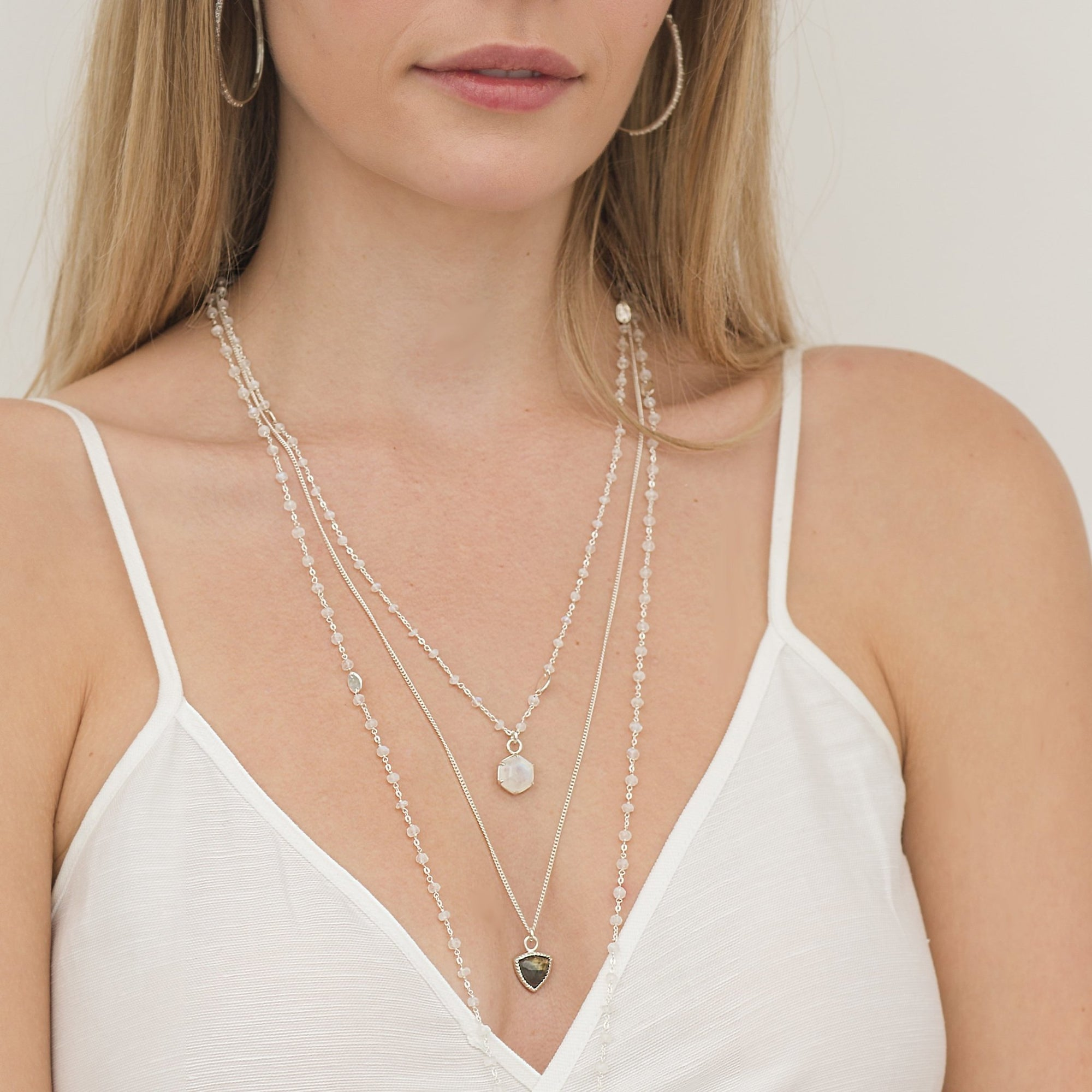 FREEDOM ICON - LABRADORITE & SILVER - SO PRETTY CARA COTTER