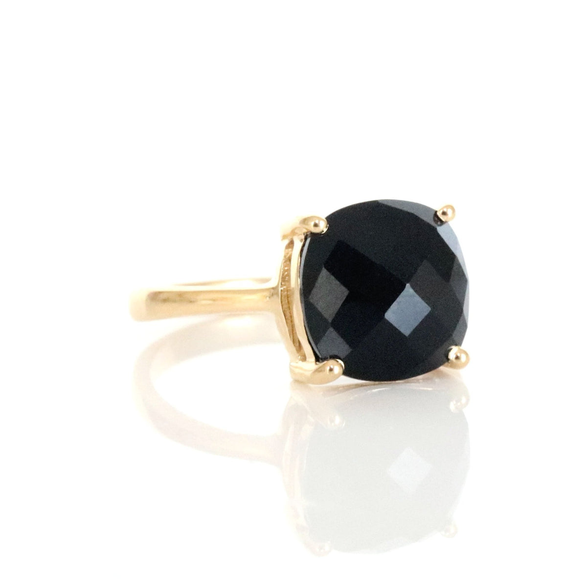 GLEE RING - BLACK ONYX & GOLD - SO PRETTY CARA COTTER