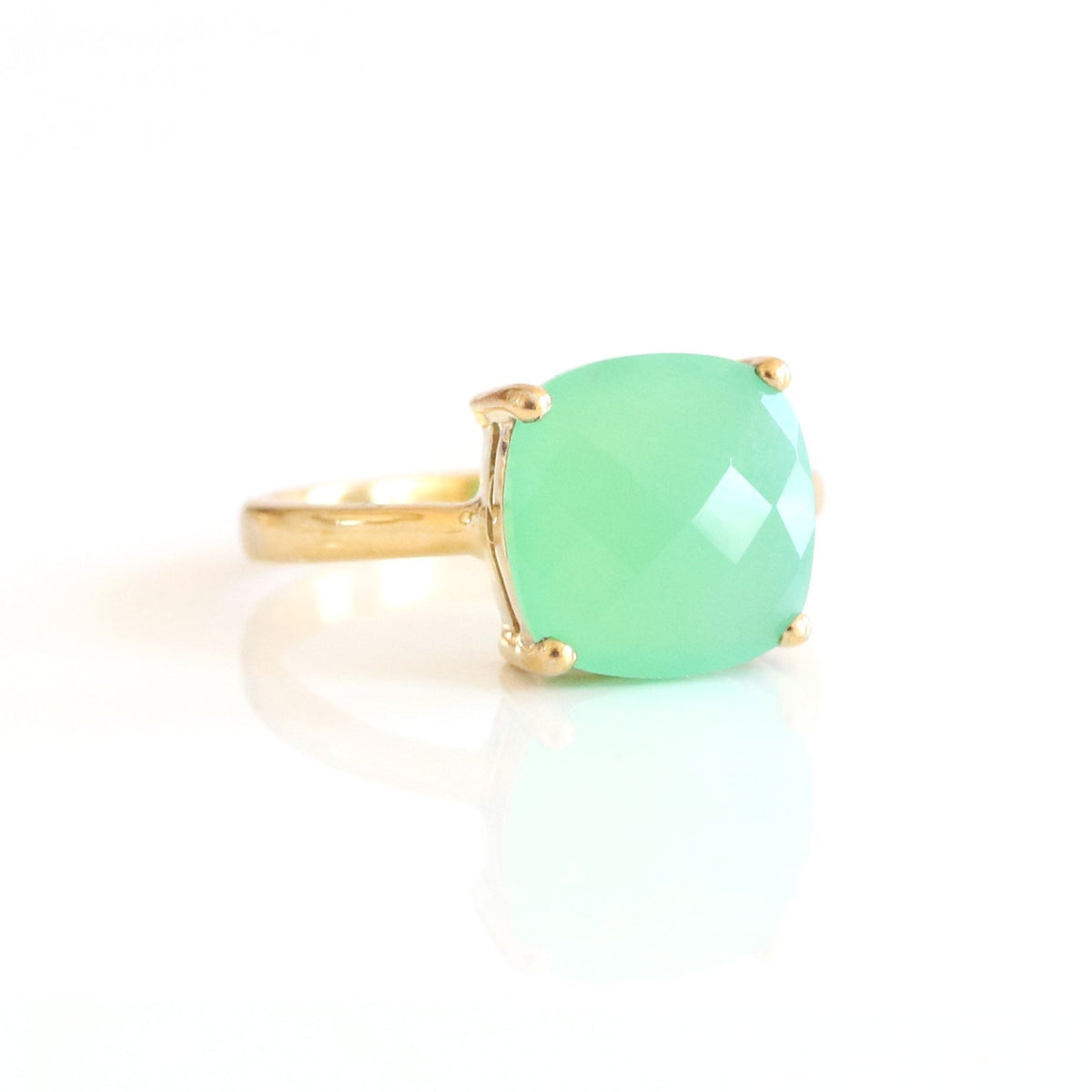 GLEE RING - CHRYSOPRASE & GOLD - SO PRETTY CARA COTTER