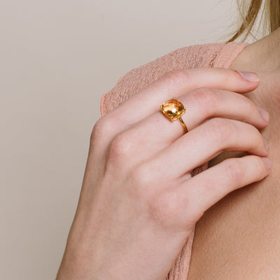 GLEE RING - CITRINE & GOLD - SO PRETTY CARA COTTER