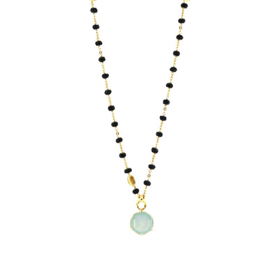 GRACE ICON - AQUA CHALCEDONY & GOLD - SO PRETTY CARA COTTER