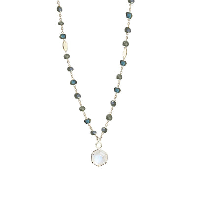 GRACE ICON - RAINBOW MOONSTONE & SILVER - SO PRETTY CARA COTTER
