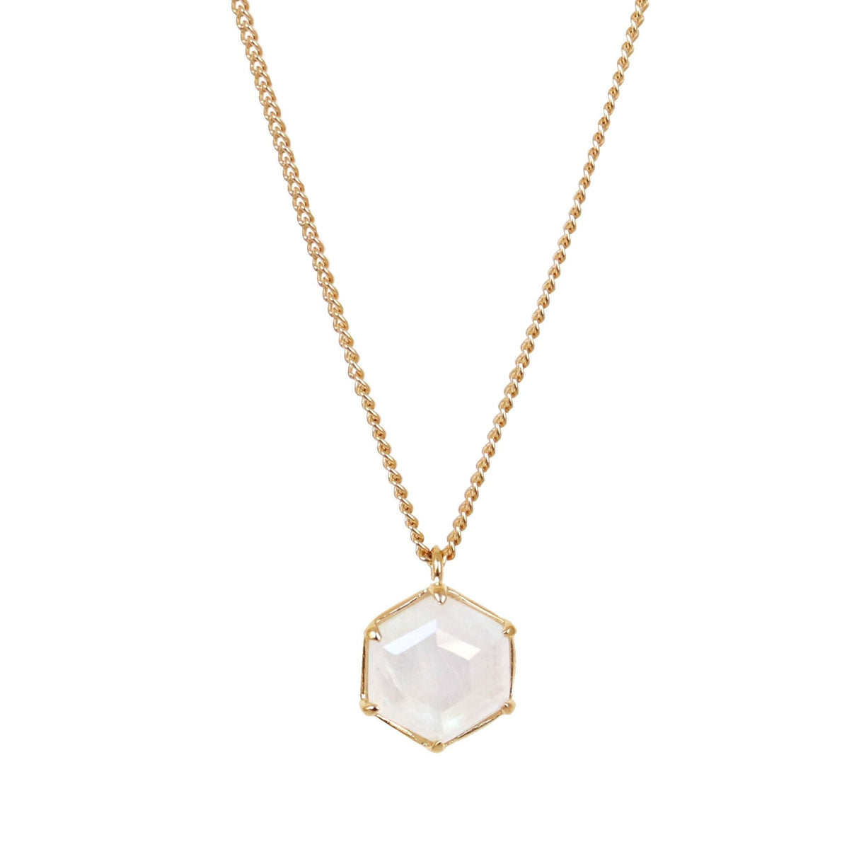 GRACE REVERSIBLE NECKLACE - RAINBOW MOONSTONE & GOLD - SO PRETTY CARA COTTER