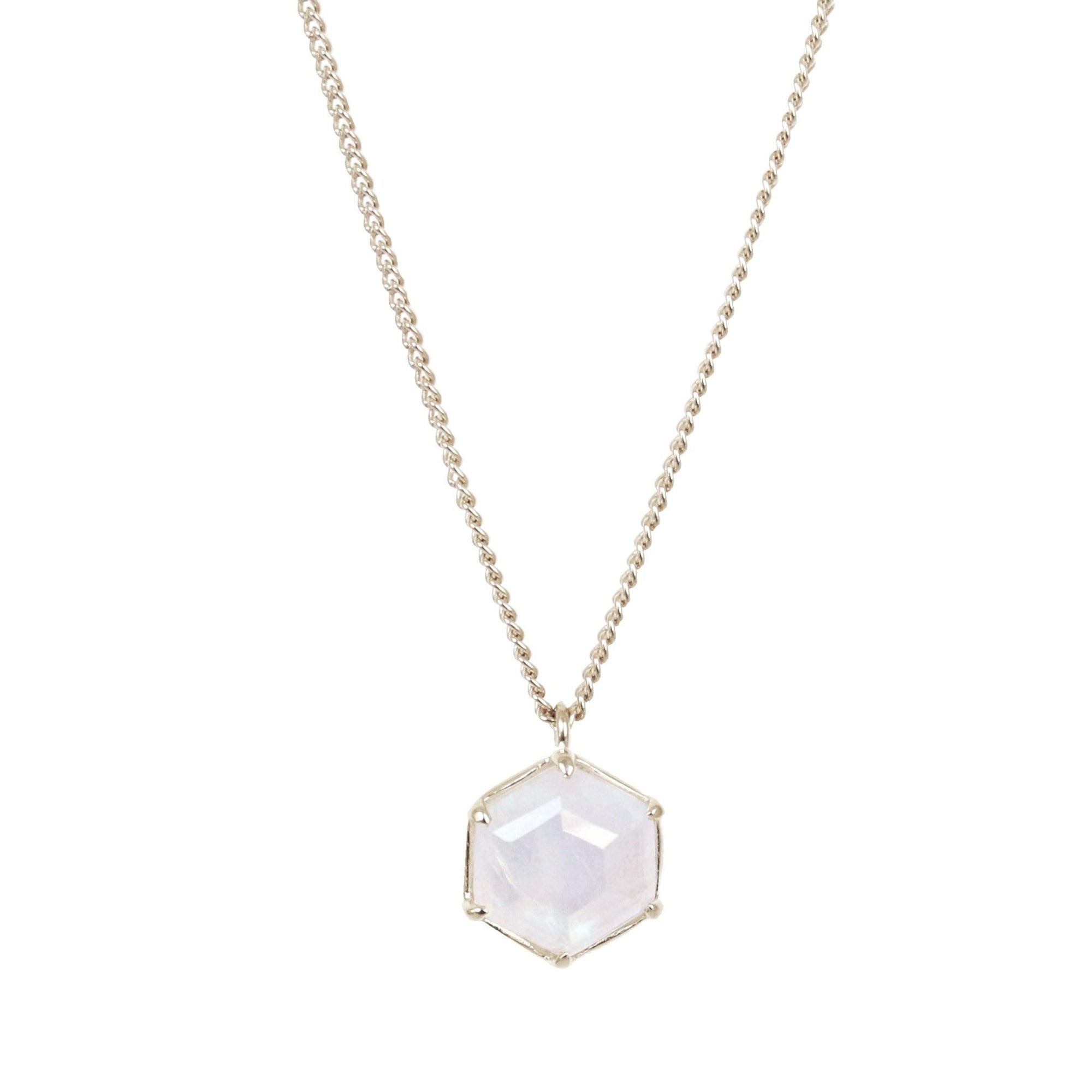 GRACE REVERSIBLE NECKLACE - RAINBOW MOONSTONE & SILVER - SO PRETTY CARA COTTER