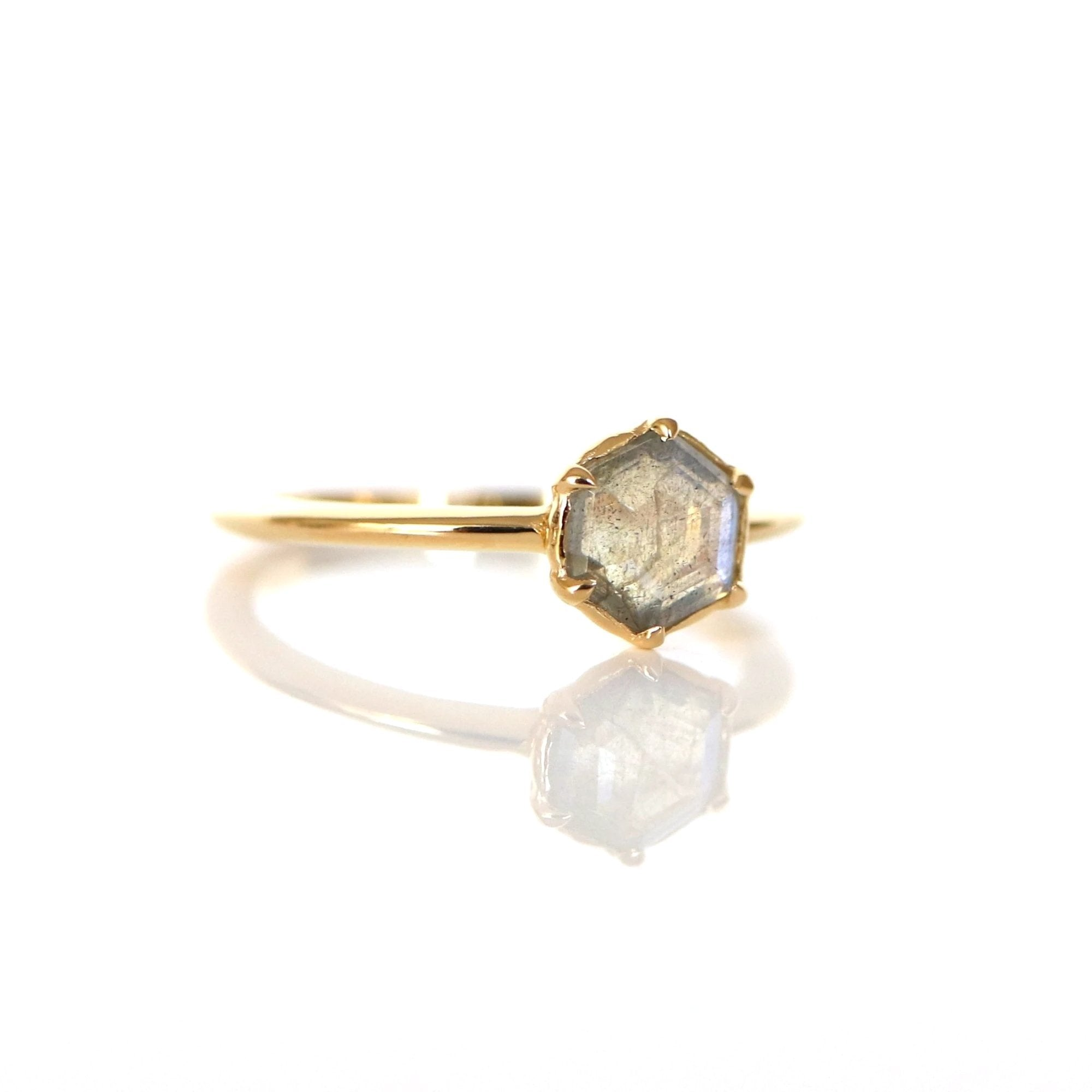 GRACE RING LABRADORITE & GOLD - SO PRETTY CARA COTTER