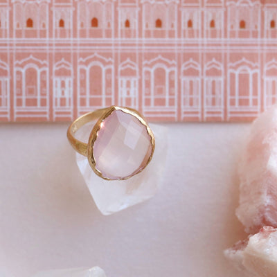 HARMONY RING - PINK QUARTZ & GOLD - SO PRETTY CARA COTTER