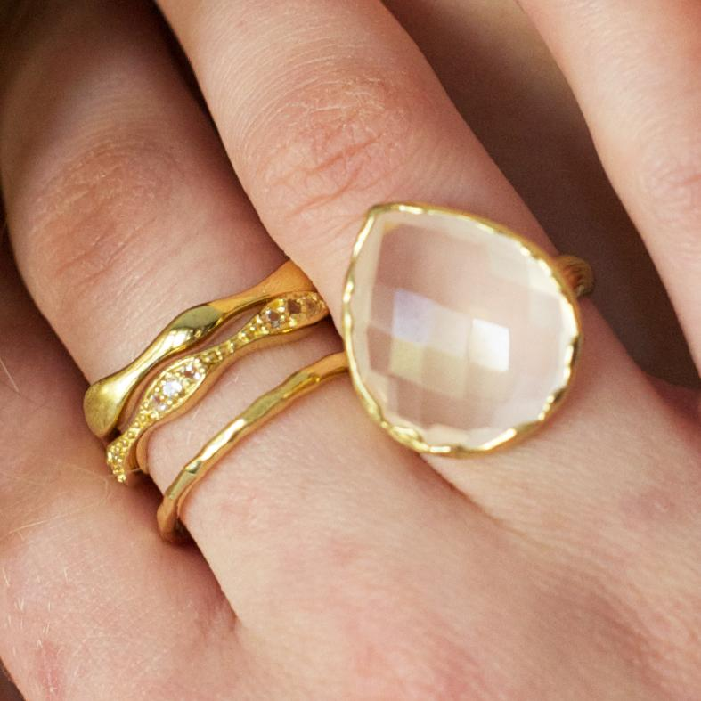 HARMONY RING - PINK QUARTZ & SILVER - SO PRETTY CARA COTTER