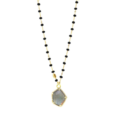 HONOUR ICON - LABRADORITE & GOLD - SO PRETTY CARA COTTER