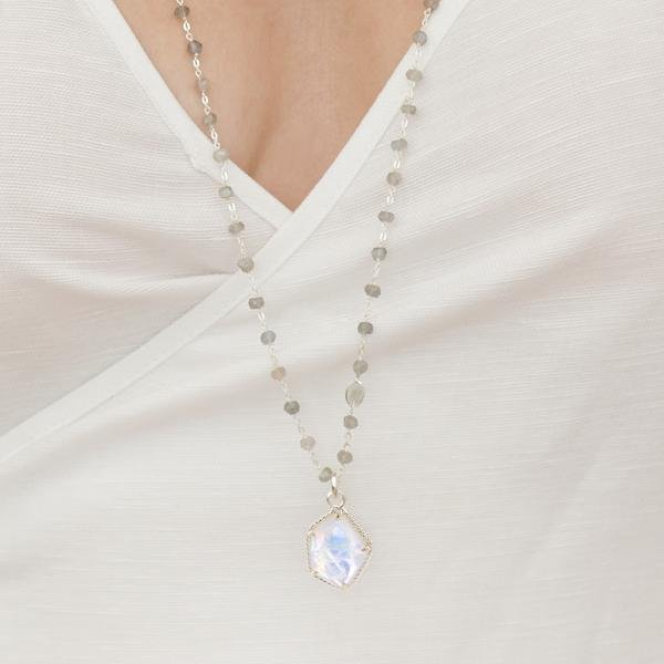 HONOUR ICON - RAINBOW MOONSTONE & SILVER - SO PRETTY CARA COTTER