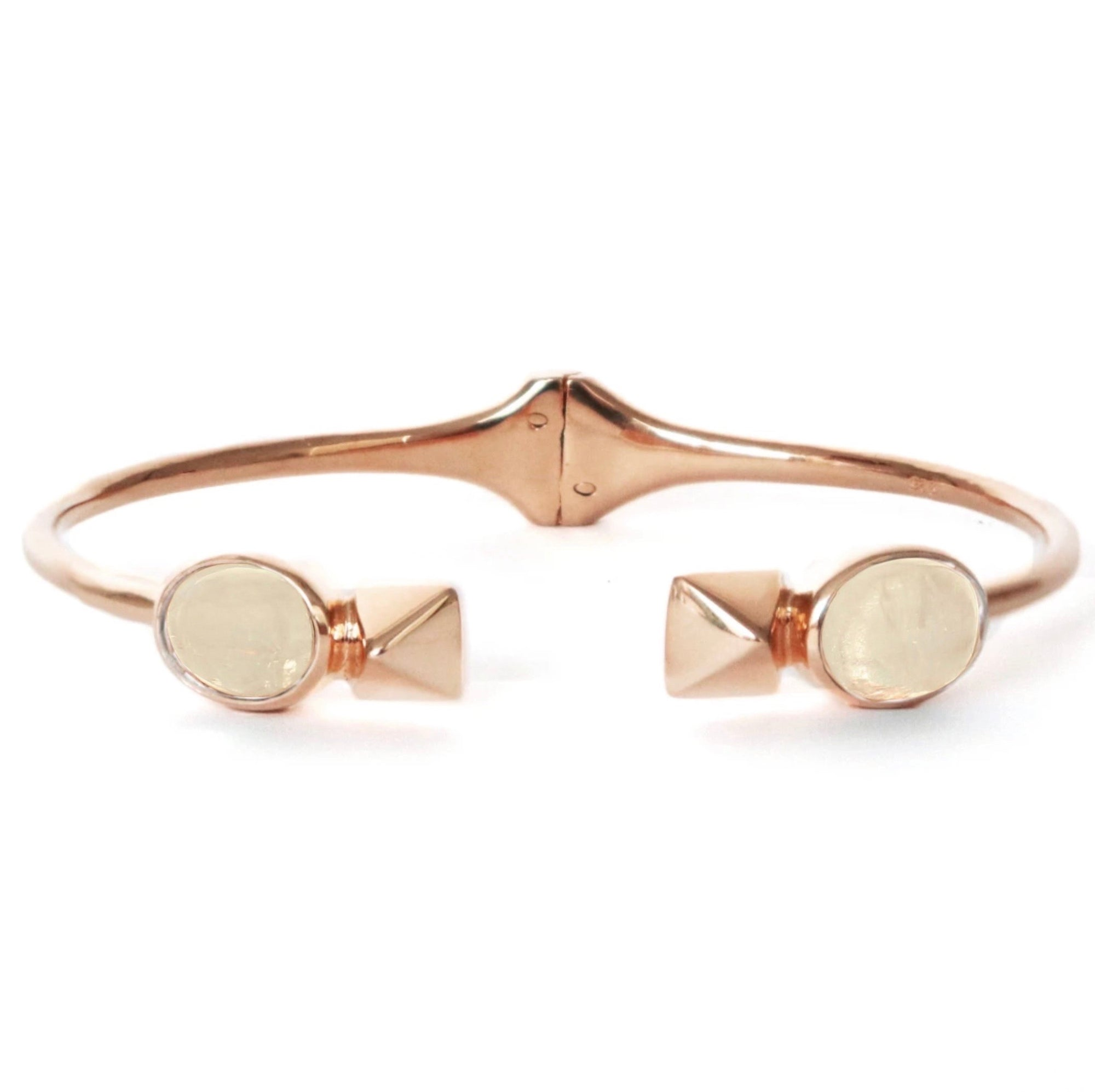 GLEE CUFF - RAINBOW MOONSTONE & ROSE GOLD - LIMITED EDITION