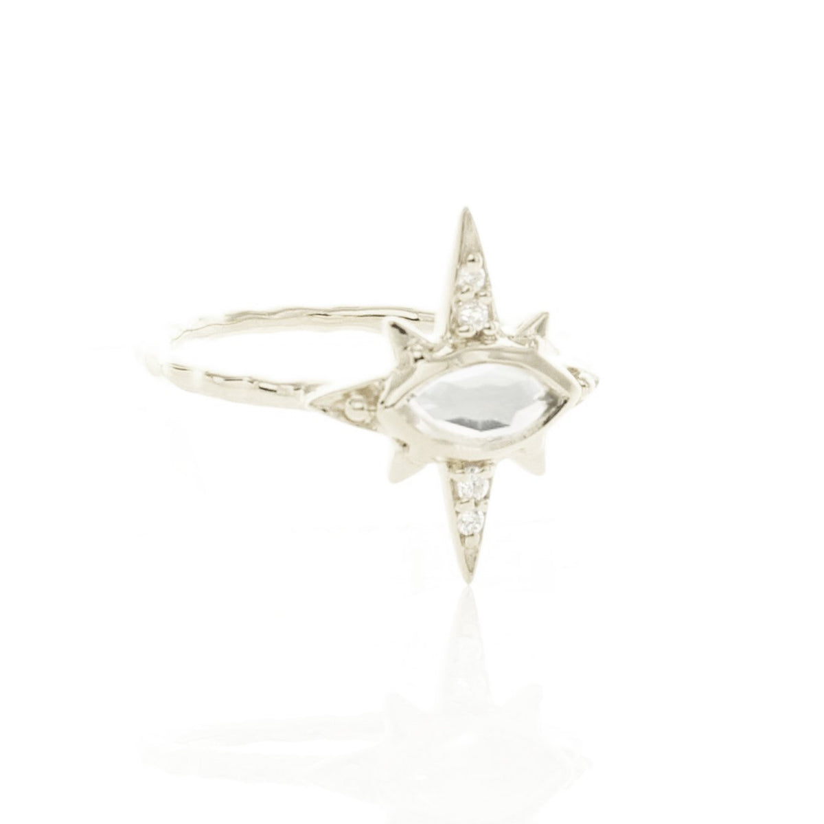 IMAGINE RING - WHITE TOPAZ, CUBIC ZIRCONIA & SILVER - SO PRETTY CARA COTTER