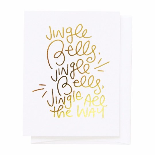 Jingle Bells, Greeting Card - SO PRETTY CARA COTTER