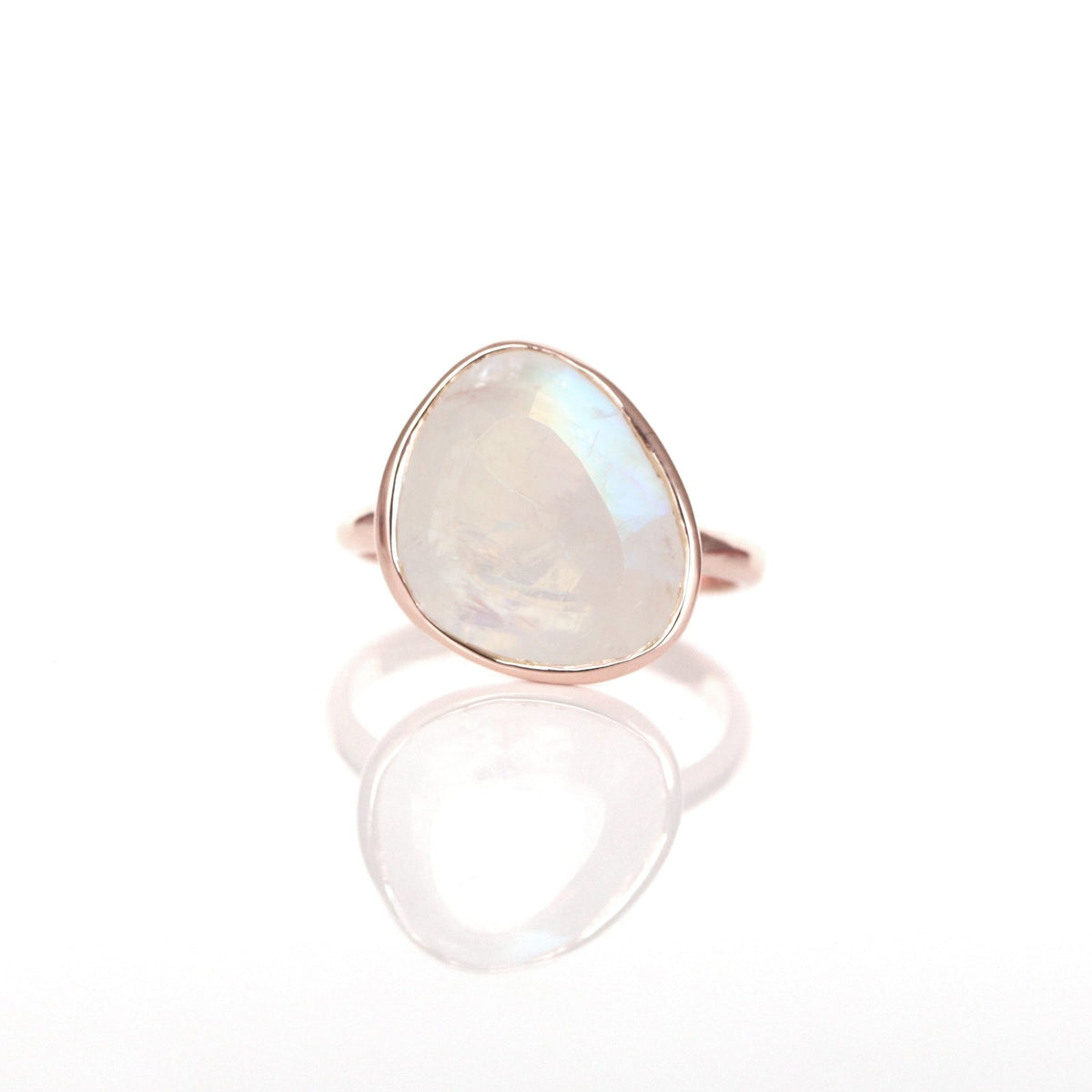 JOY RING - RAINBOW MOONSTONE & ROSE GOLD - SO PRETTY CARA COTTER
