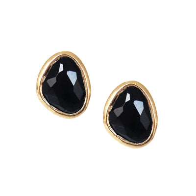 JOY STUDS - BLACK ONYX & GOLD - SO PRETTY CARA COTTER