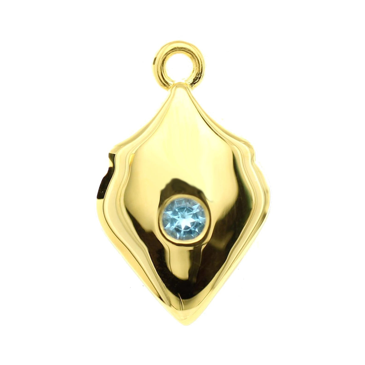 LEGACY DECEMBER BIRTHSTONE SHIELD ICON - BLUE TOPAZ & GOLD - SO PRETTY CARA COTTER