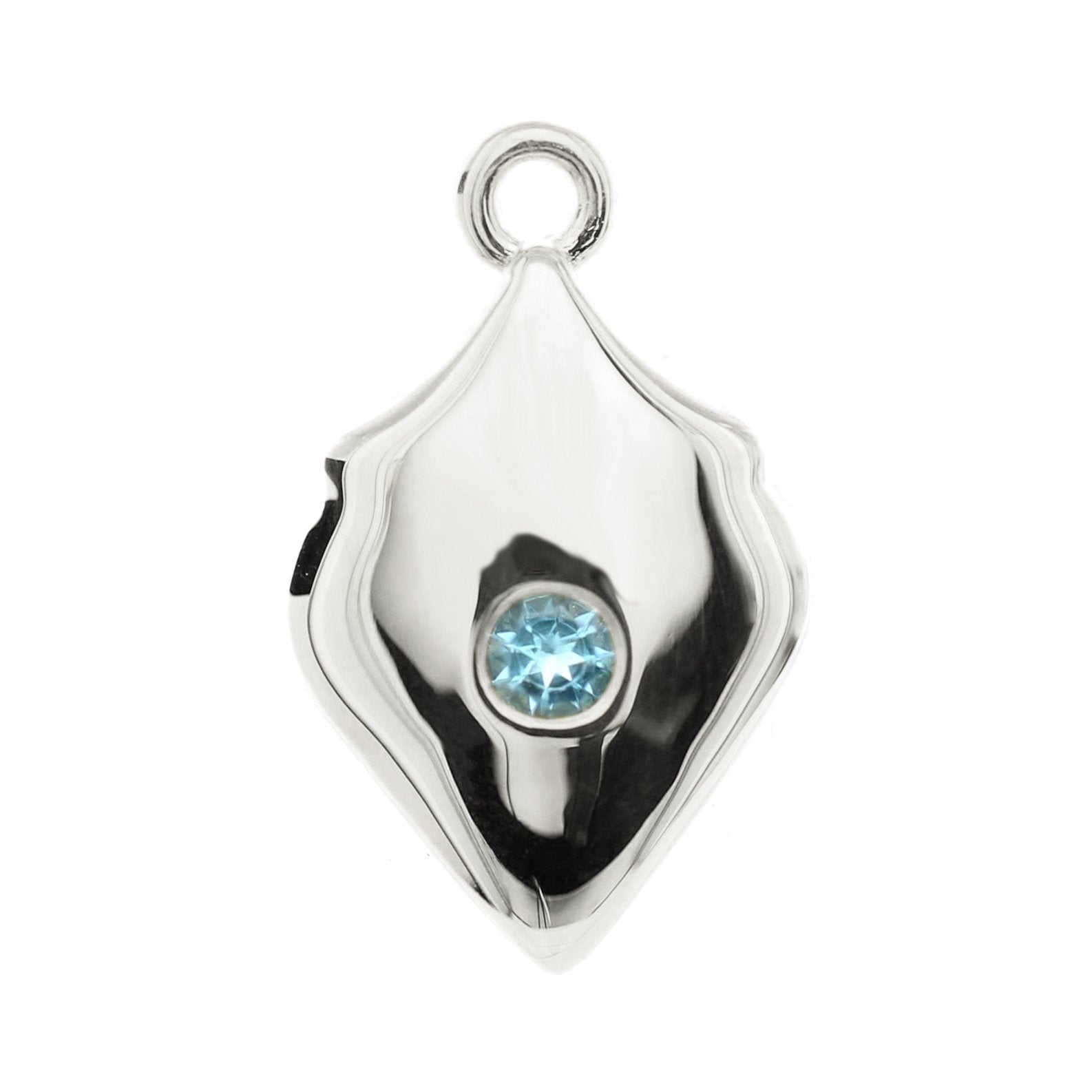 LEGACY DECEMBER BIRTHSTONE SHIELD ICON - BLUE TOPAZ & SILVER - SO PRETTY CARA COTTER