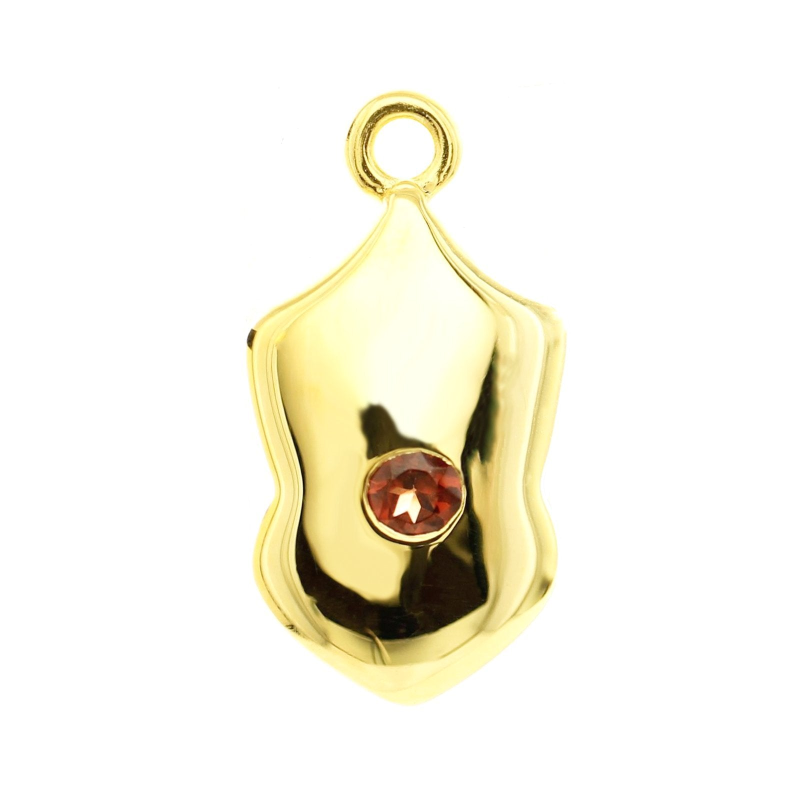 LEGACY JULY BIRTHSTONE SHIELD ICON - RUBY & GOLD - SO PRETTY CARA COTTER