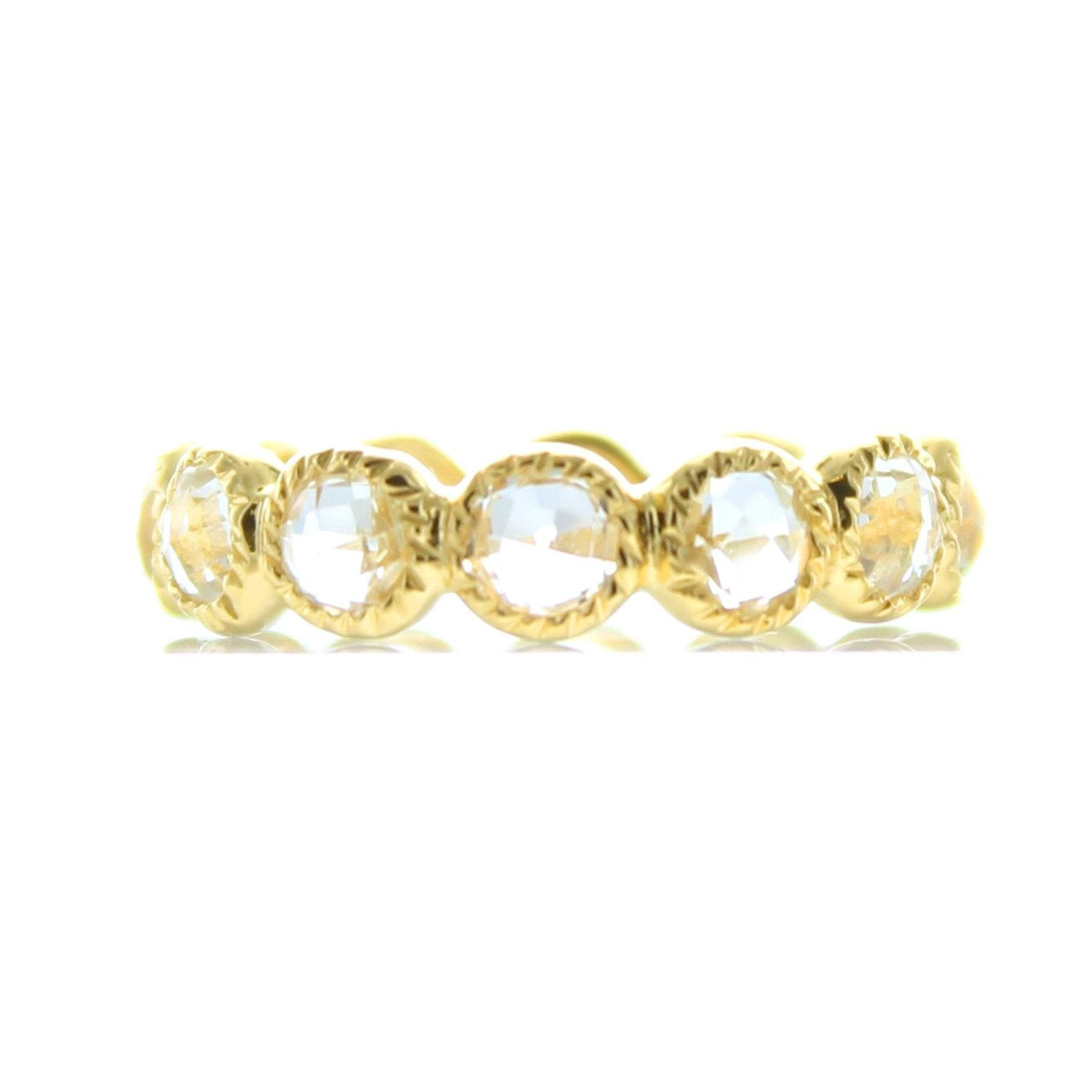 LEGACY RING WHITE TOPAZ & GOLD - SO PRETTY CARA COTTER