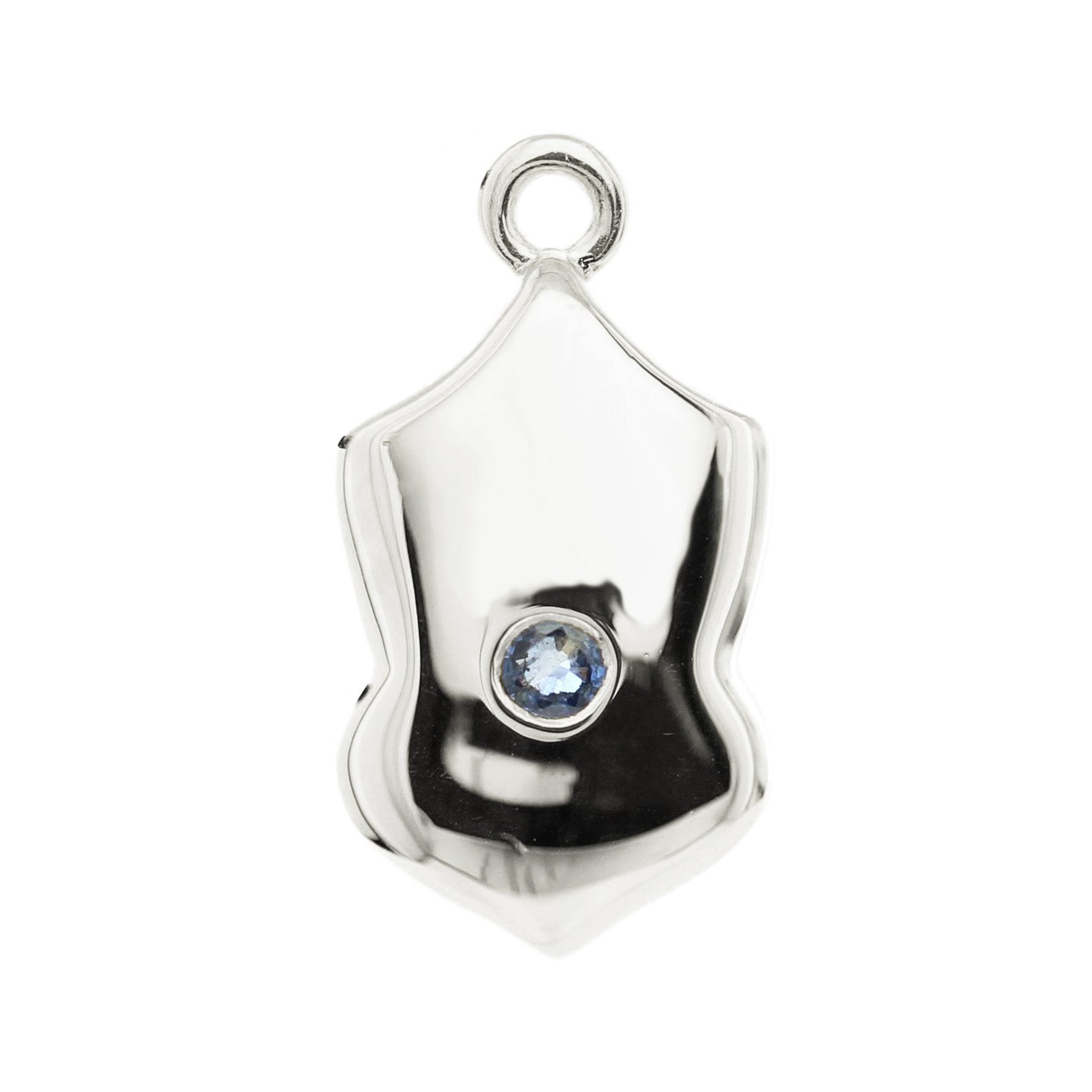 LEGACY SEPTEMBER BIRTHSTONE SHIELD ICON - SAPPHIRE & SILVER - SO PRETTY CARA COTTER