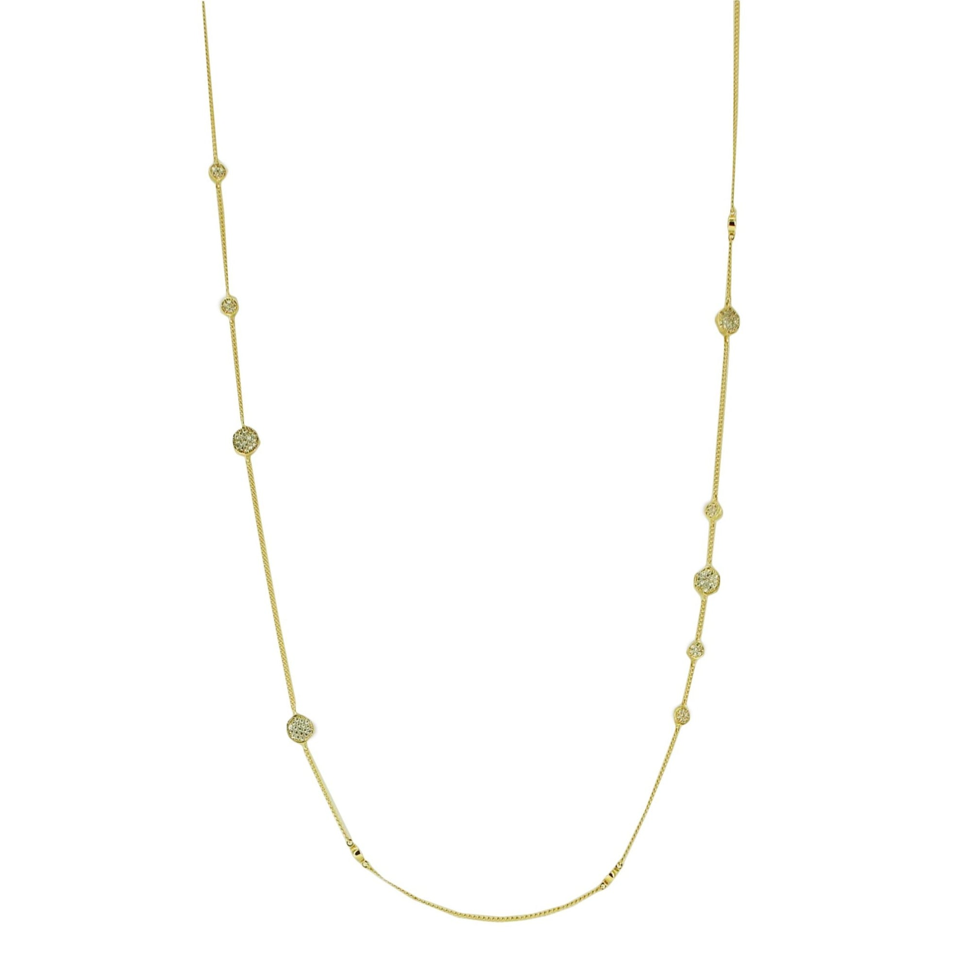 LONG XO LOVE CHOKER NECKLACE - CUBIC ZIRCONIA & GOLD - SO PRETTY CARA COTTER