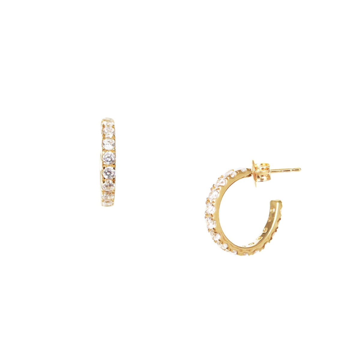 LOVE HUGGIE HOOPS - CUBIC ZIRCONAI & GOLD - SO PRETTY CARA COTTER