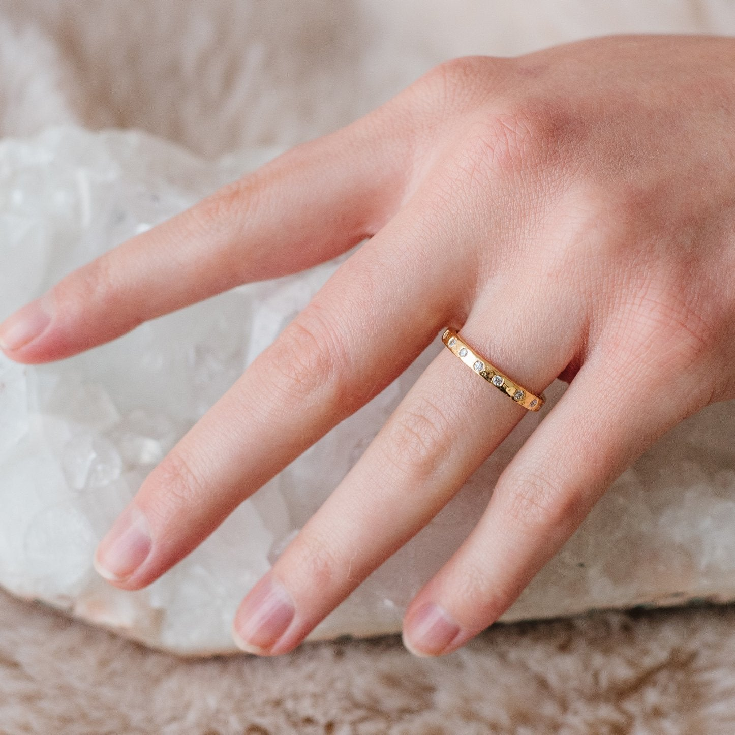 LOVE STACKING RING & PENDANT GOLD - SO PRETTY CARA COTTER
