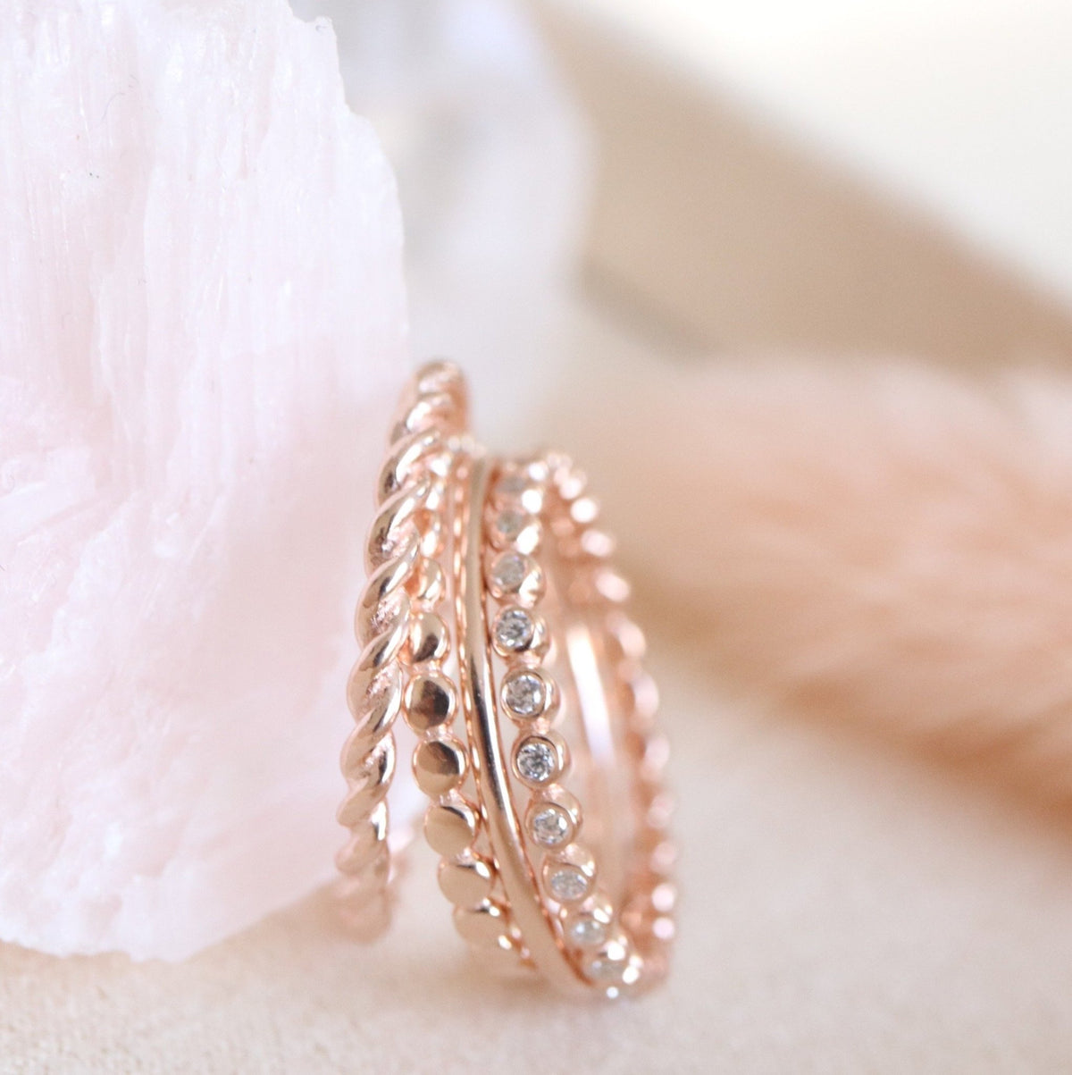 LOVE THIN DISK BAND RING - ROSE GOLD - SO PRETTY CARA COTTER