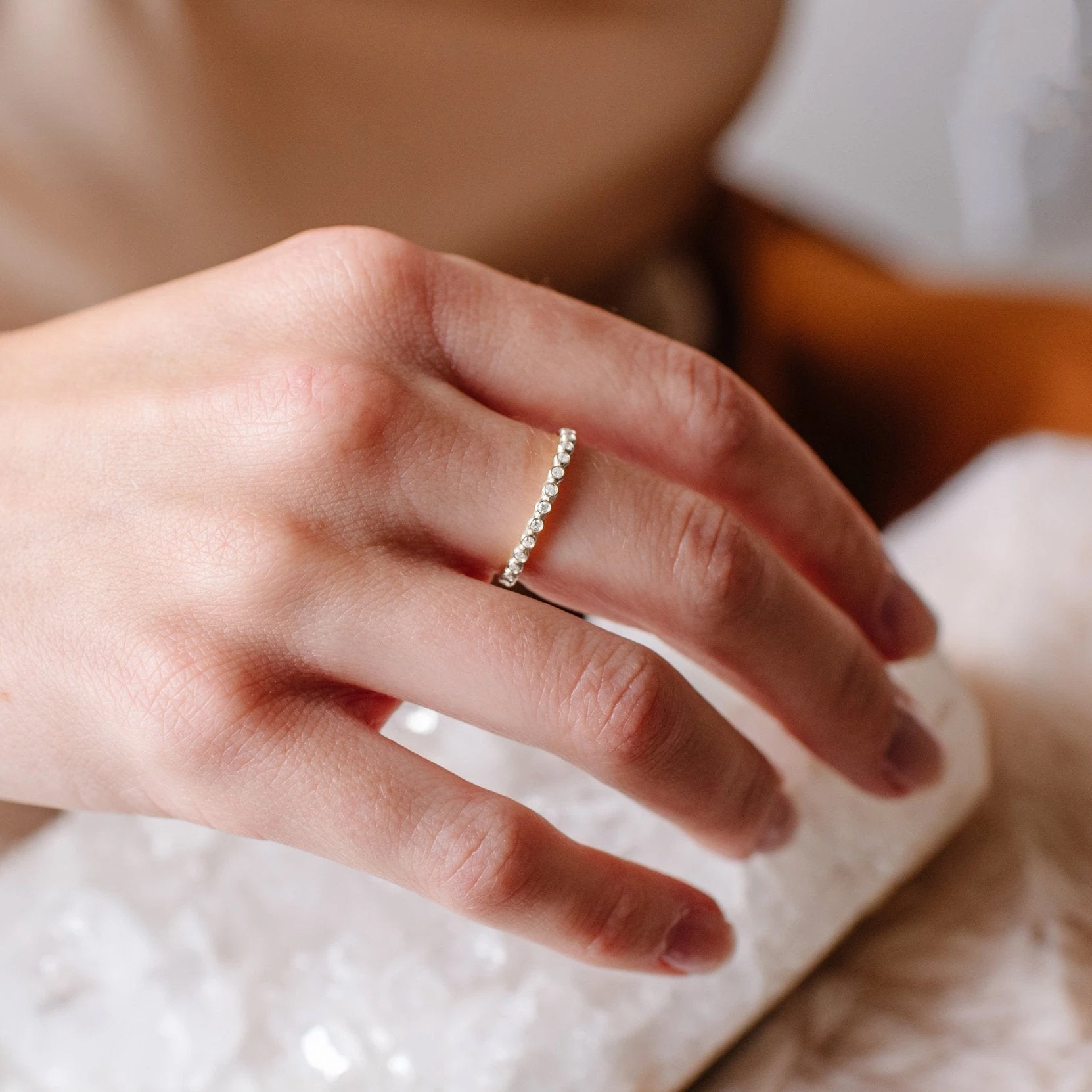 LOVE THIN DISK BAND RING - SILVER - SO PRETTY CARA COTTER
