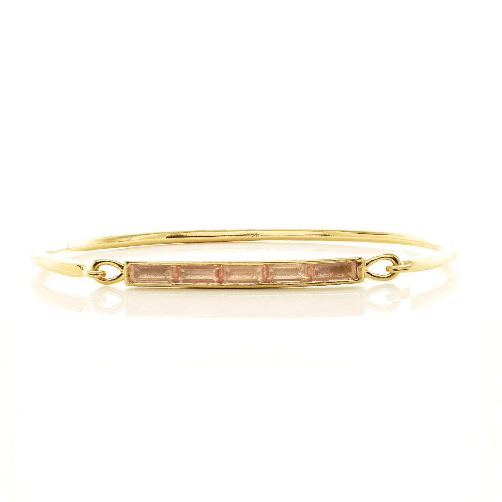 LOYAL CUFF - PINK QUARTZ & GOLD - SO PRETTY CARA COTTER