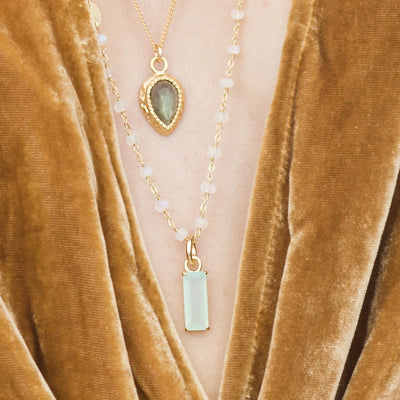 LOYAL ICON - AQUA CHALCEDONY & GOLD - SO PRETTY CARA COTTER
