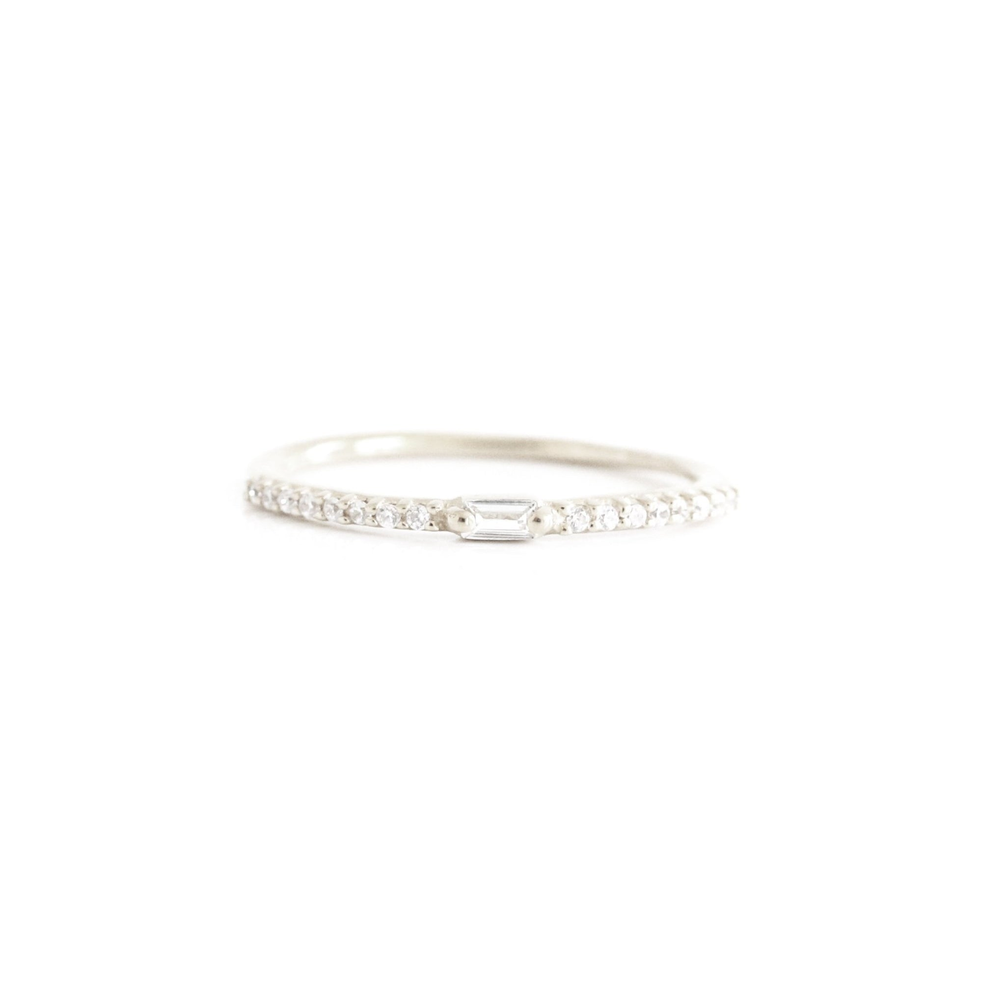 Loyal Prism Stacking Ring - White Topaz & Silver - SO PRETTY CARA COTTER