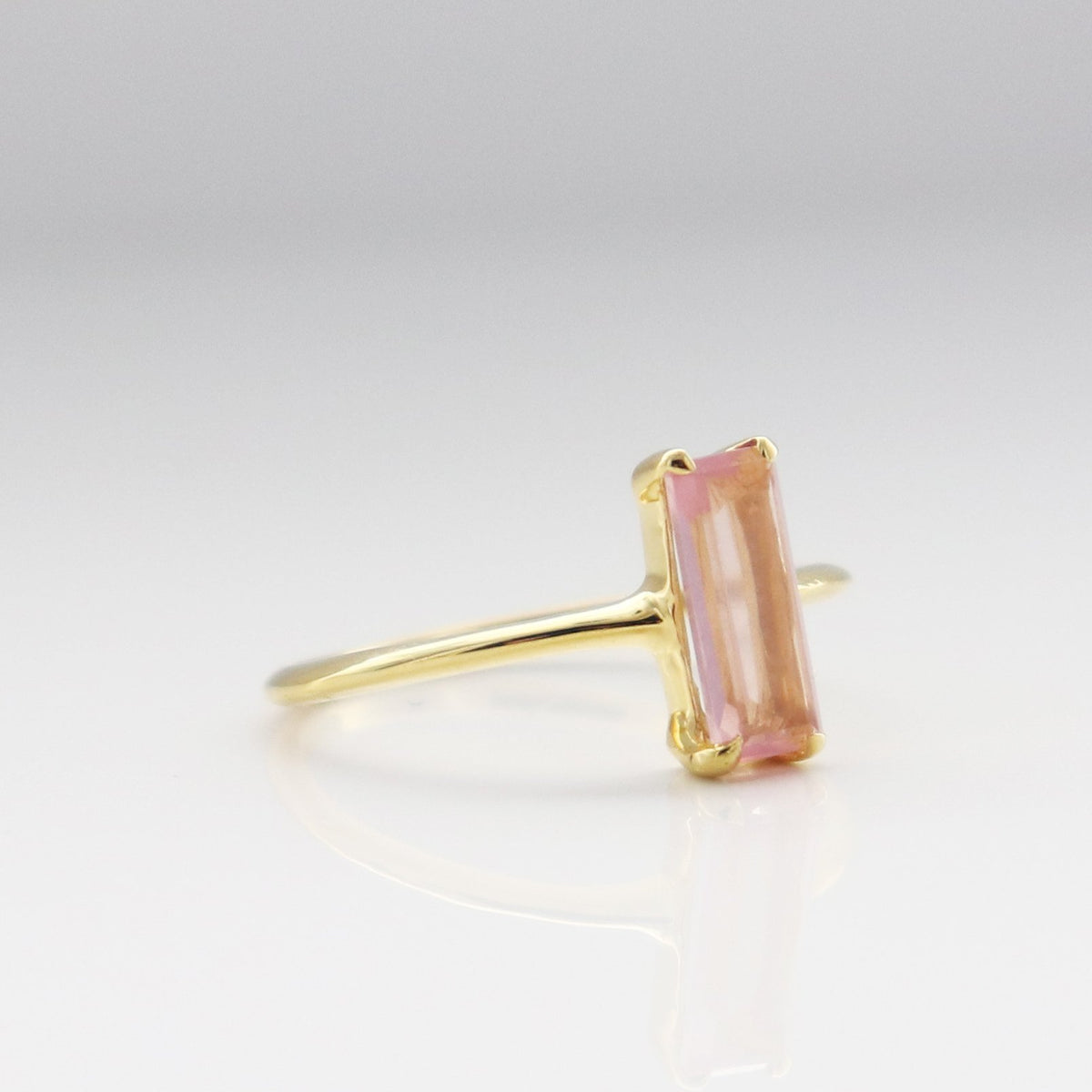 LOYAL RING PINK QUARTZ & GOLD - SO PRETTY CARA COTTER