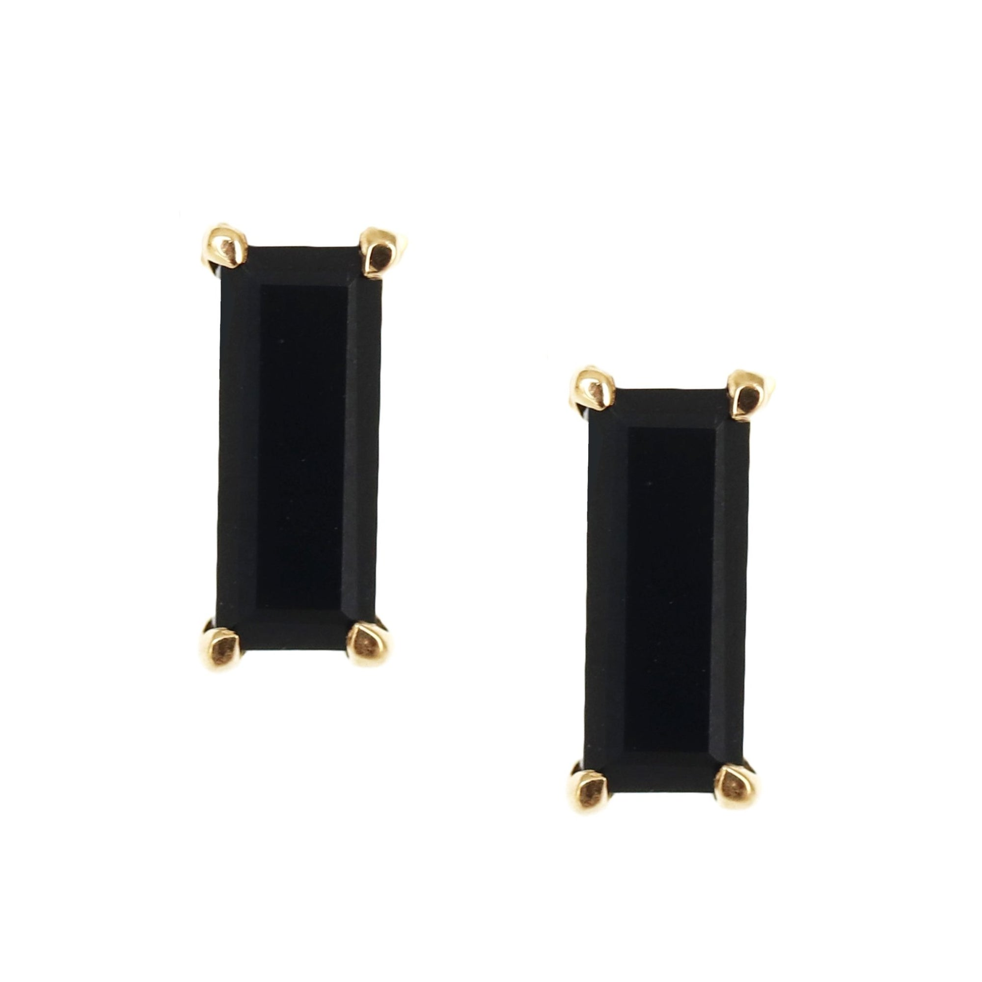 LOYAL STUD EARRINGS - BLACK ONYX & GOLD - SO PRETTY CARA COTTER