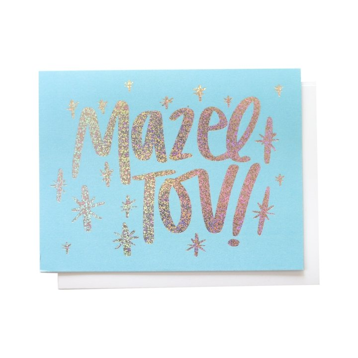 Mazel Tov, Greeting Card - SO PRETTY CARA COTTER