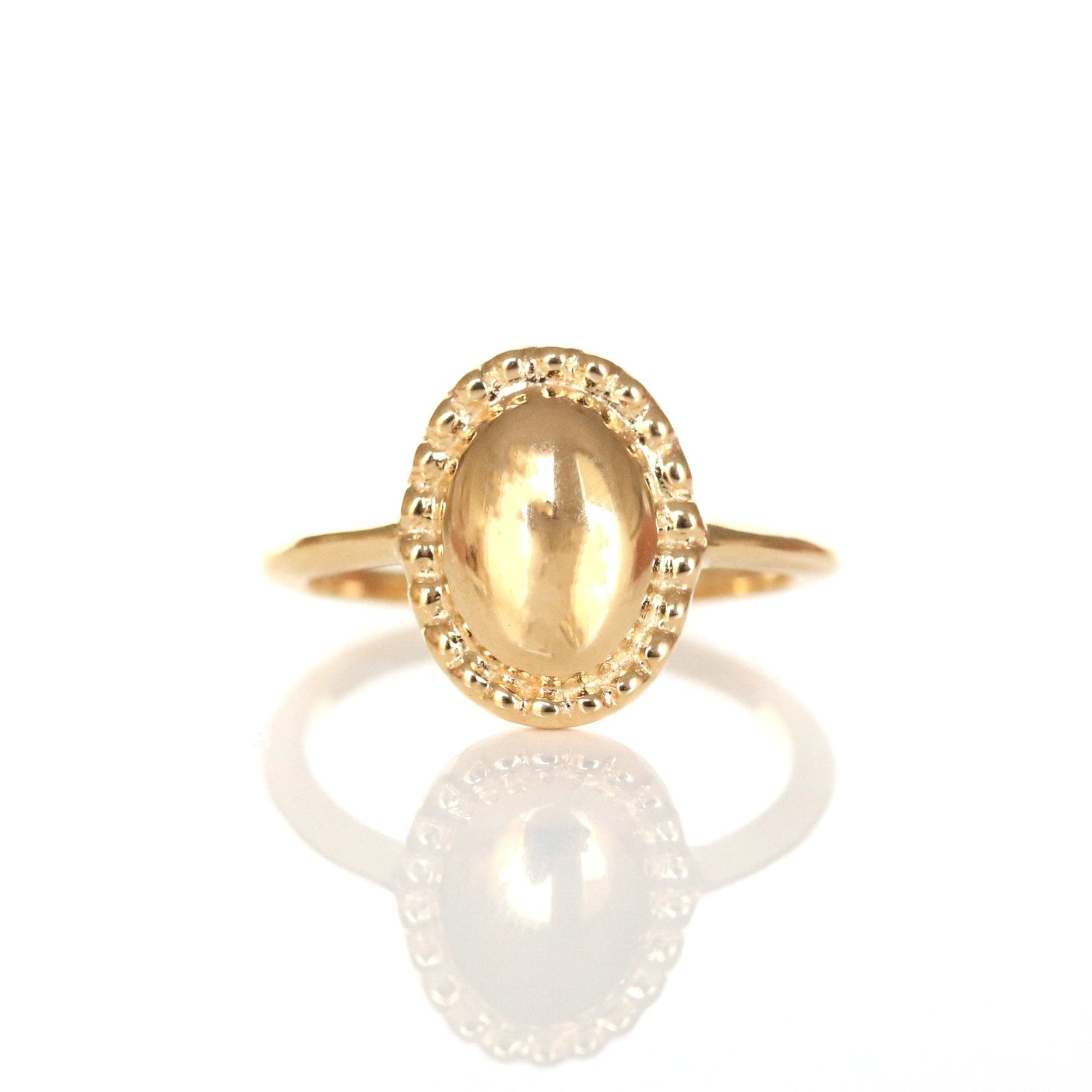 MINI BELIEVE SOLEIL OVAL RING - GOLD - SO PRETTY CARA COTTER
