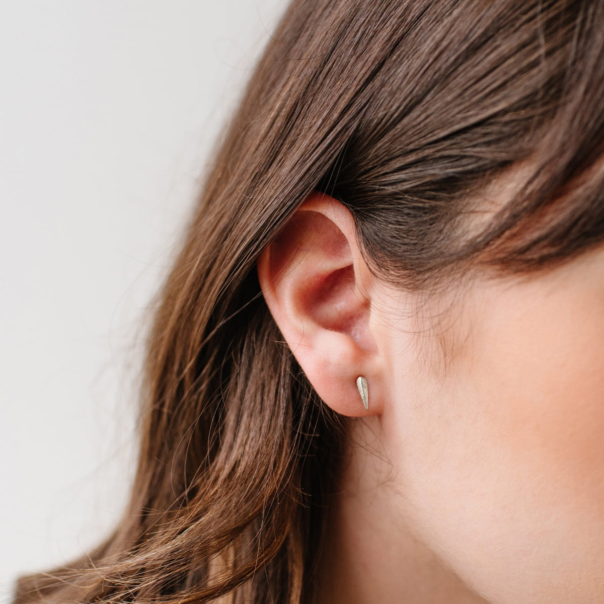 MINI BRAVE STUD EARRINGS - SILVER - SO PRETTY CARA COTTER