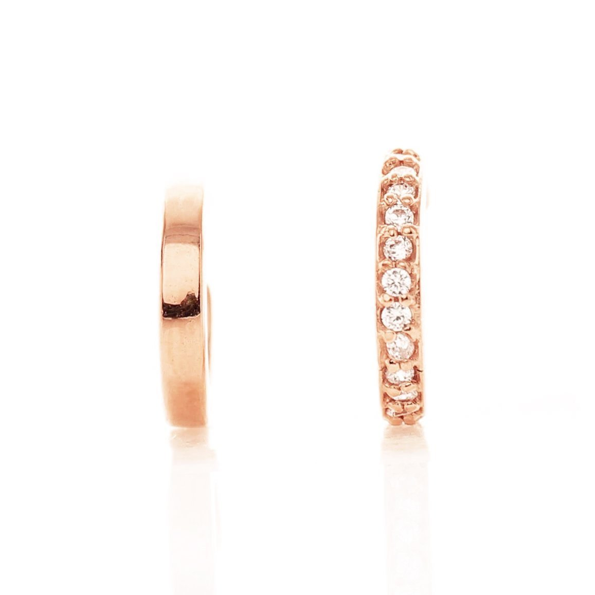 MINI DREAM STARDUST EAR CUFF SET - CUBIC ZIRCONIA & ROSE GOLD - LIMITED EDITION - SO PRETTY CARA COTTER