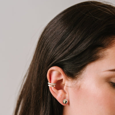MINI DREAM STARDUST EAR CUFF SET - CUBIC ZIRCONIA & SILVER - SO PRETTY CARA COTTER